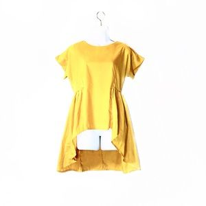 Mustard Yellow High-Low Top